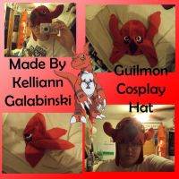 Guilmon Cosplay Hat by CupcakeCrafty