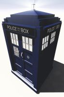 TARDIS Model - preview by Lupus-deus-est