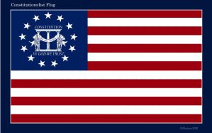 Constitutionalist Flag Print by dragonpyper