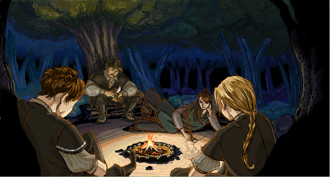 TP: Mastiff iScribble - Fireside by yellowis4happy