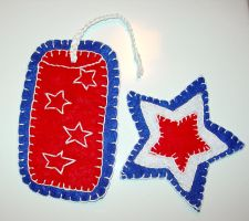July Magnets-Star+Firecracker by UrsulaPatch