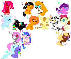 CHEAP!!! MLP Adopts Open ^^ by DI-AlecHardy