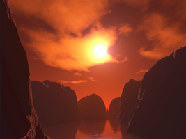 Sunset Canyons by Natieboy