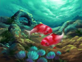 Red fishy by scorpy-roy