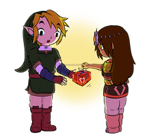 TP Link and Hirumi [Zelda FC] | POINTS COMMISSION by MajorasMasks