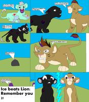 Ice beats Lion by thecat1313