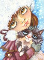 ACEO - Don't Forget Your Snowshoe by KootiesMom