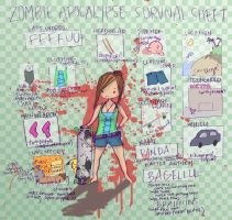 ZOMBIE SURVIVAL SHEET by antichange