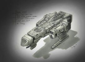 Concept Ship 'Kurai Sora' by SARGY001
