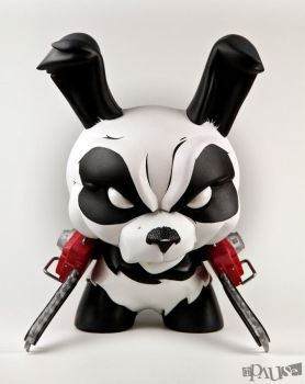 Chainsaw Panda 8' Dunny Custom by Pause-Designs