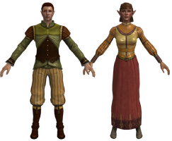 DAO Soris and Valora Wedding Clothes XPS by Padme4000