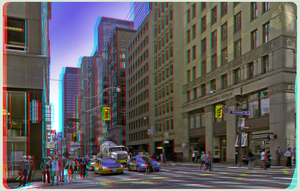 Financial District of Toronto Anaglyph 3-D HDR/Raw by zour