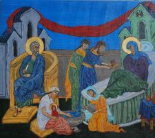 Nativity of the Theotokos by CodyVBurkett