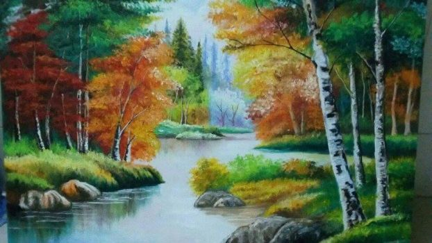Landscape Oil Painting by AnnaWeison