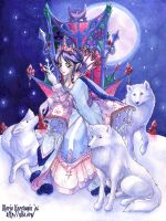 Queen of the Arctic Wolves by Maria-Ylla