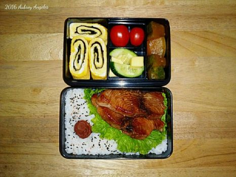 Yellowfin Tuna Bento by ErisConstance