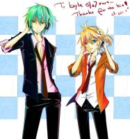 mikuo and len by earltious