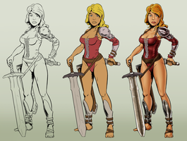 Character Drawing Steps by dadich