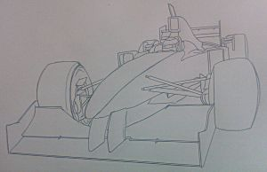 1996 F1 car doodle by Galbatore