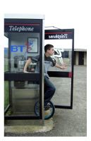 the phonebox and the unicycle by InvisibleSnow