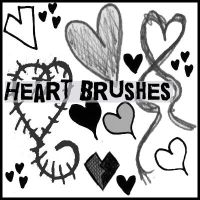 Heart doodle brushes by Mypoeticsin
