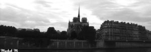 Notre-Dame from Ile-St-Louis by Schuma