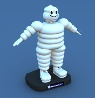 Michelin miniature character by PhilJacques