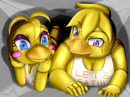 Chica and Toy Chica (Beak) by 40450