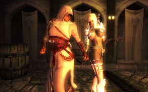 Altair and Viconia by soundbarriere
