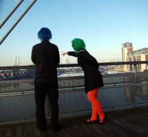 Gumi and Kaito, coward mont blanc by DizzieDee