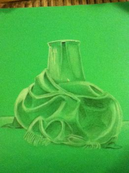 Still Life of Teapot and Blanket by ReeceMorgan