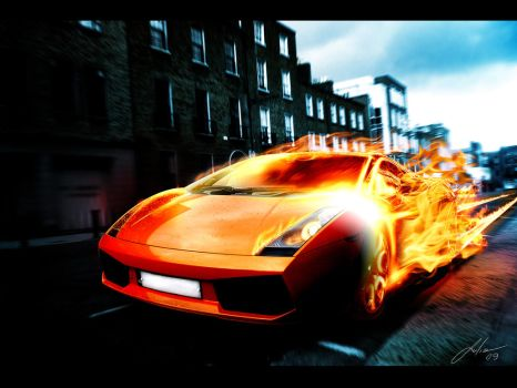 Lambo Fire by julioleite
