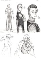 Loki and Thor sketches by ToxicNeonSpaceMonkey