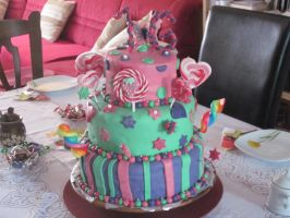 My sweet sixteen cake by my sister by Bambily