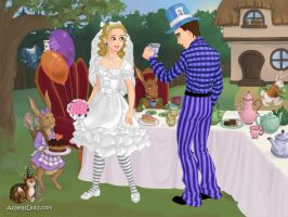 Alice and Mad Hatter's Wedding Day by LadyIlona1984