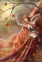 Goddess of Autumn by CLB-Raveneye