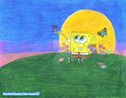 SpongeBob's Sunset by BlueHatTimmy