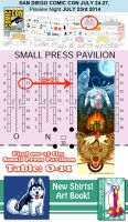 San Diego Comic Con 2014 - Small Press, Booth O-11 by amegoddess