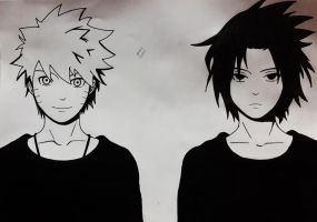Naruto And sasuke :D by XXpixieblossomXx