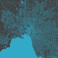 Melbourne by MapMapMaps