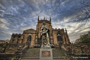 Lady Wulfruna St Peters Wolverhampton HDR by RizzoPhotography