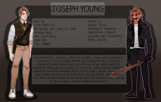 CREEPYPASTA OC: JOSEPH YOUNG (OLD) by SatiricalKat