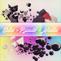 Cubes Pyramid Marbles Pack by rexbee