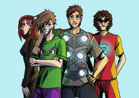 The Comavengers by chicken-blast