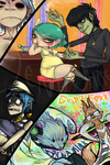 Gorillaz + Studio Killers by fishyfood