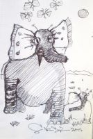 Elephants recycle new Tagging Technologies by DVanDyk
