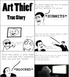 Rage Comic: Art Thief by ChavisO2