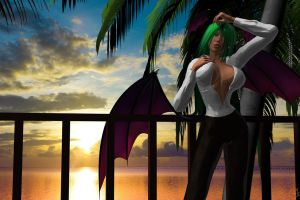 MORRIGAN AT SUNSET by lordcoyote
