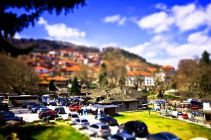 Tilt Shifted Metsovo by GlueR