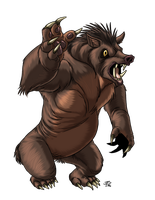 Grizzly Boar by ProdigyDuck